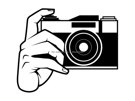 Camera Svg Cutting File, Camera Clipart, Camera Laser Svg, Camera  Silhouette Cutting Svg, Camera Vinyl Image File Svg Dxf Png.