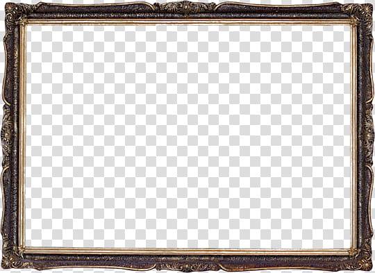 Decor Frame, rectangular dark.