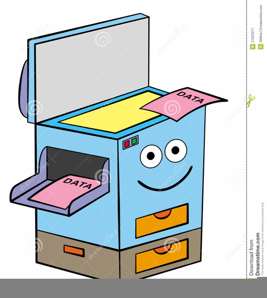 Copy Machine Clipart.