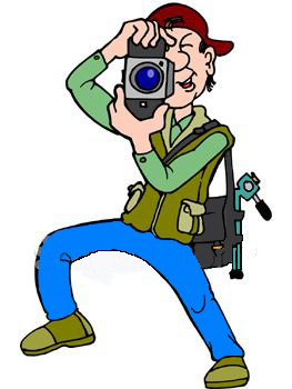 1346 Photographer free clipart.