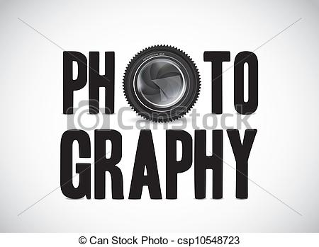 Vector Illustration of photography with camera lens.