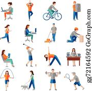 clipart physical activity #4