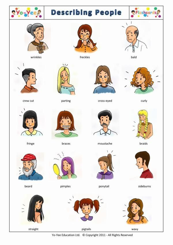 76 best images about Describing people on Pinterest.