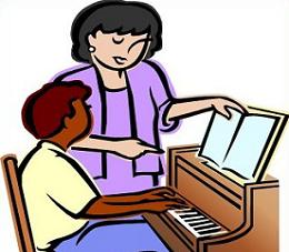Piano Teacher Clipart.