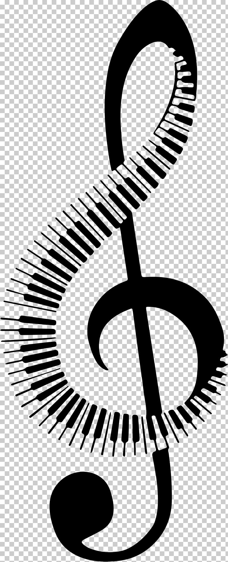 Musical note Piano , piano keyboard PNG clipart.