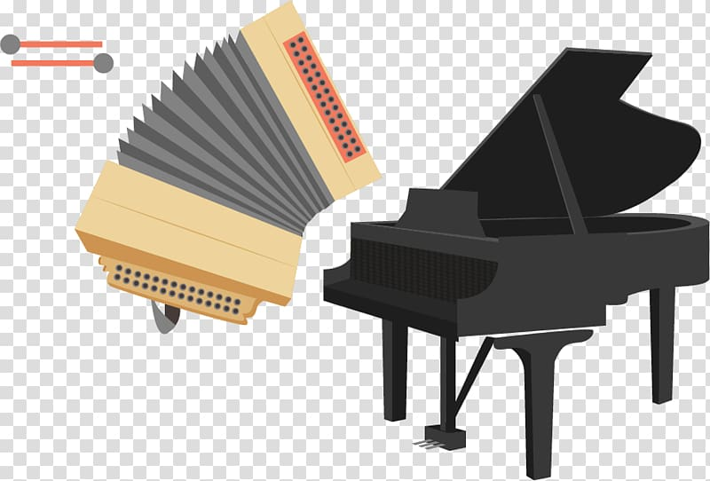 Piano , Pianist playing the violin instrument material.