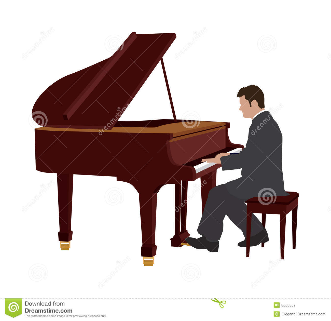 Piano Player Clipart Free.