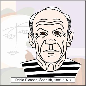 Clip Art: Artists: Pablo Picasso Color I abcteach.com.