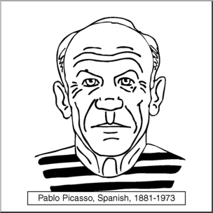 Clip Art: Artists: Pablo Picasso B&W I abcteach.com.