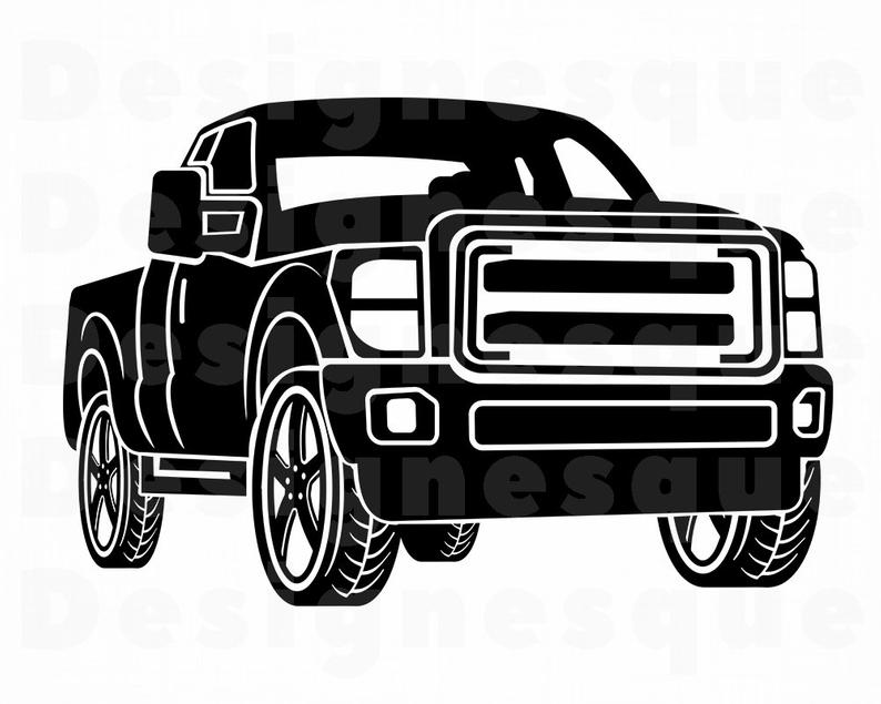Pickup Truck SVG, Pickup Truck Clipart, Pickup Truck Files for Cricut,  Pickup Truck Cut Files For Silhouette, Pickup Truck Dxf, Png, Vector.