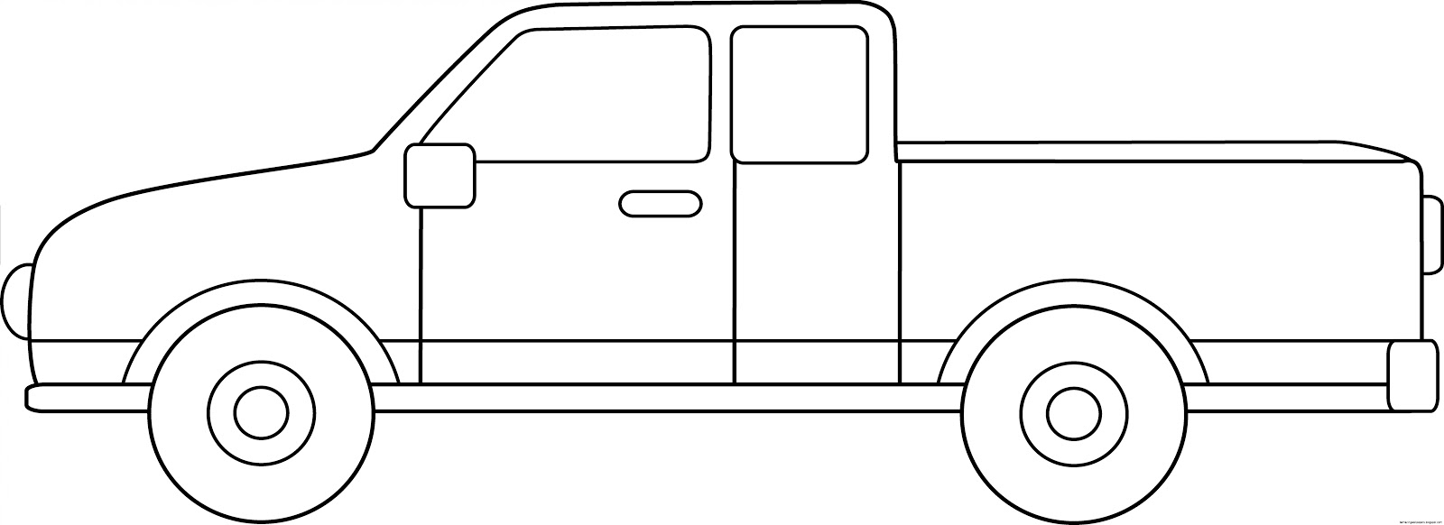 Pickup truck clipart black and white 4 » Clipart Station.