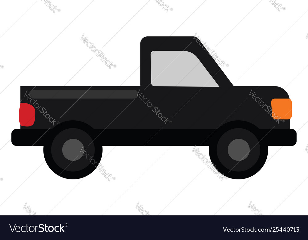 Clipart a pickup truck set on isolated white vector image.