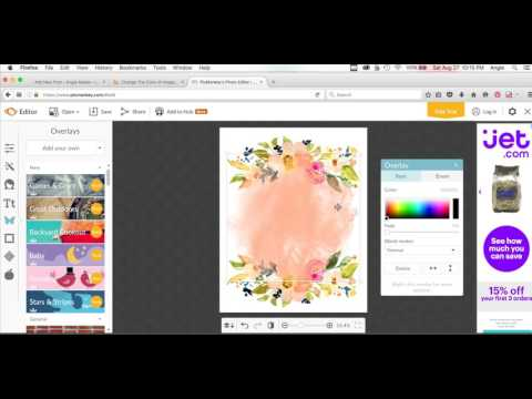 How to Create Printable Artwork In Picmonkey Using Angie.