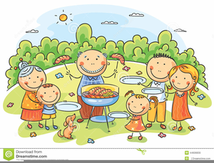 Free Clipart For Family Picnic.