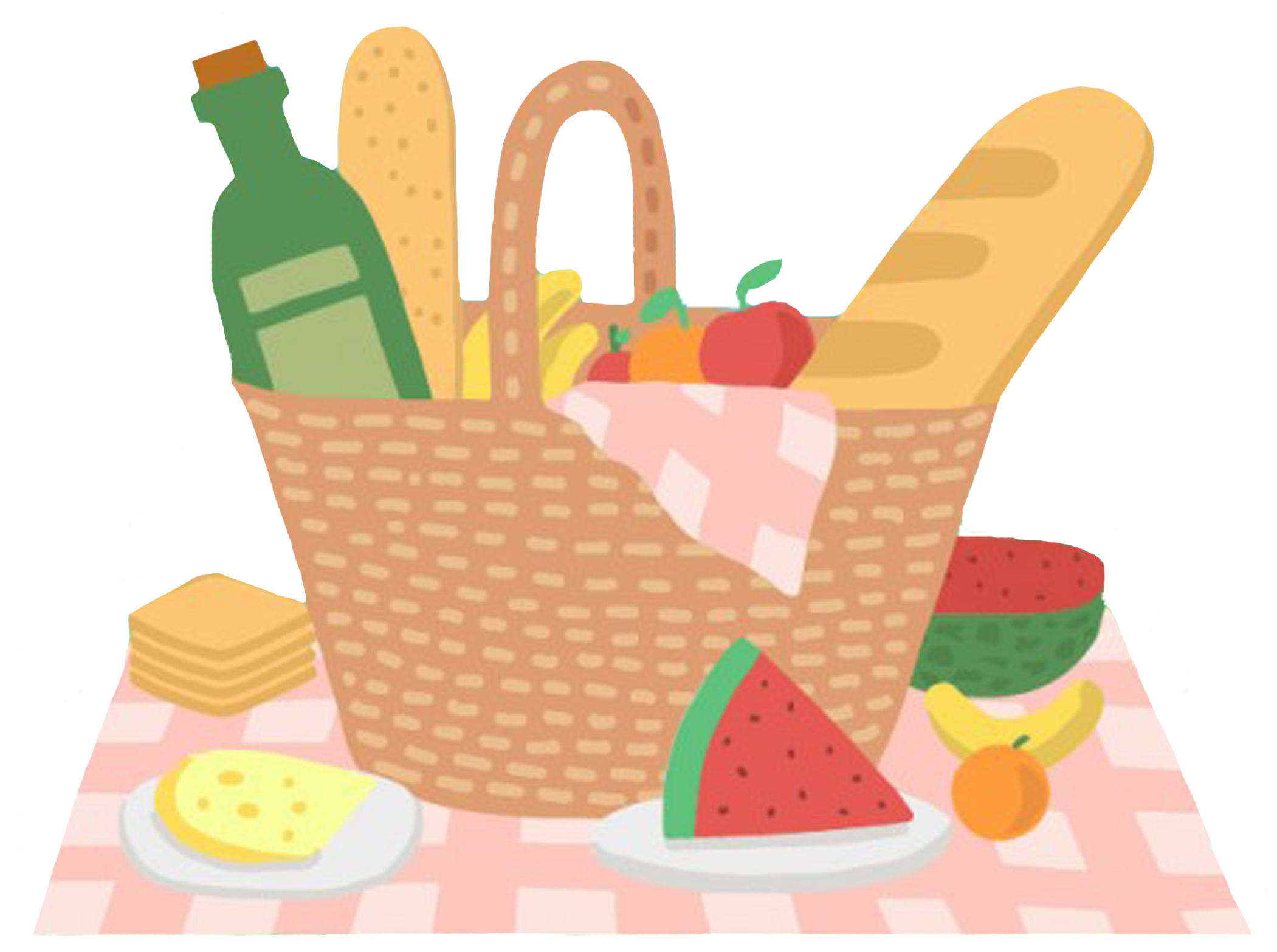 Picnic Basket Clipart family picnic food in 2019.