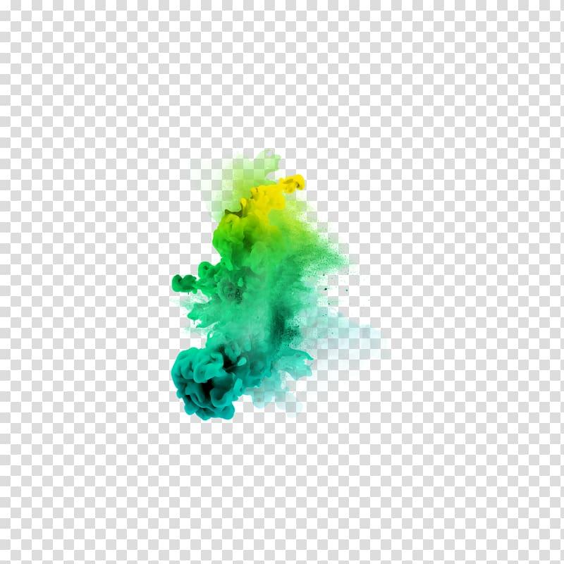 Blue and yellow smoke, PicsArt Studio editing, smoke color.