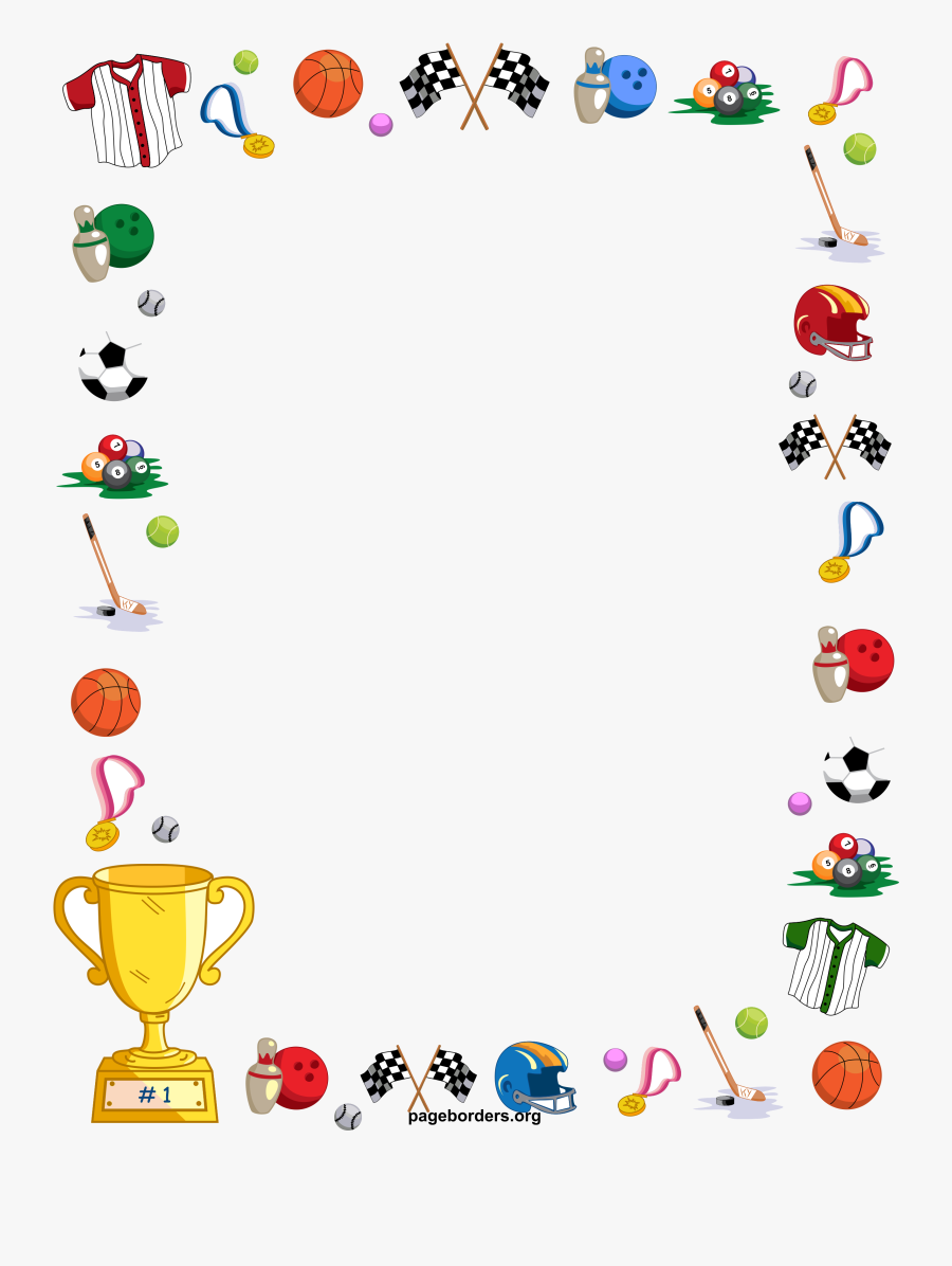 Sports Free Clipart Borders Collection Transparent.