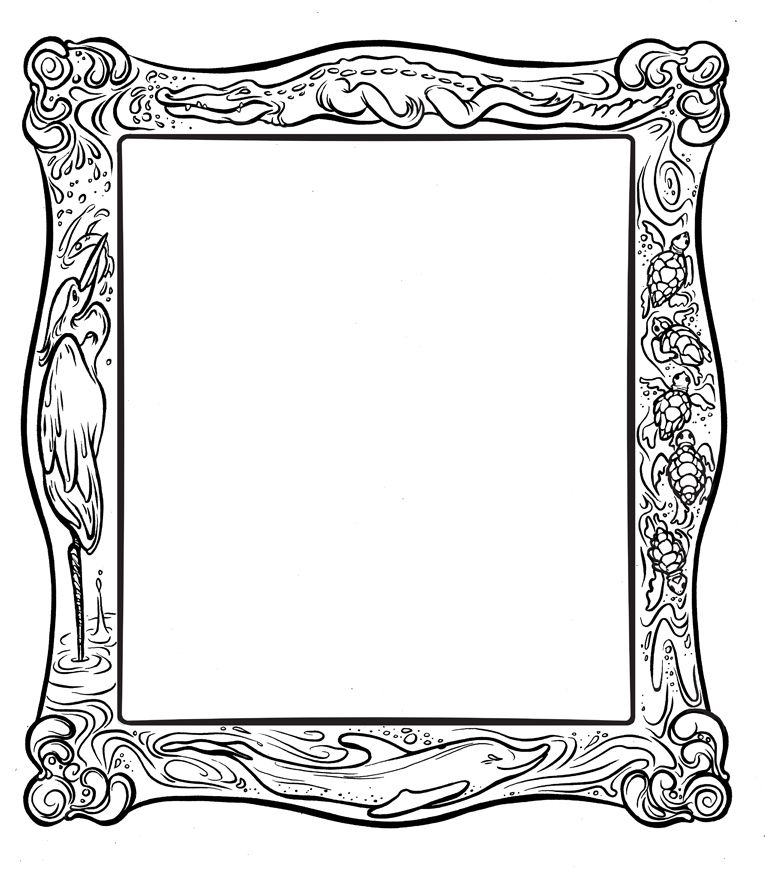 Frame Coloring Page ClipArt Best.