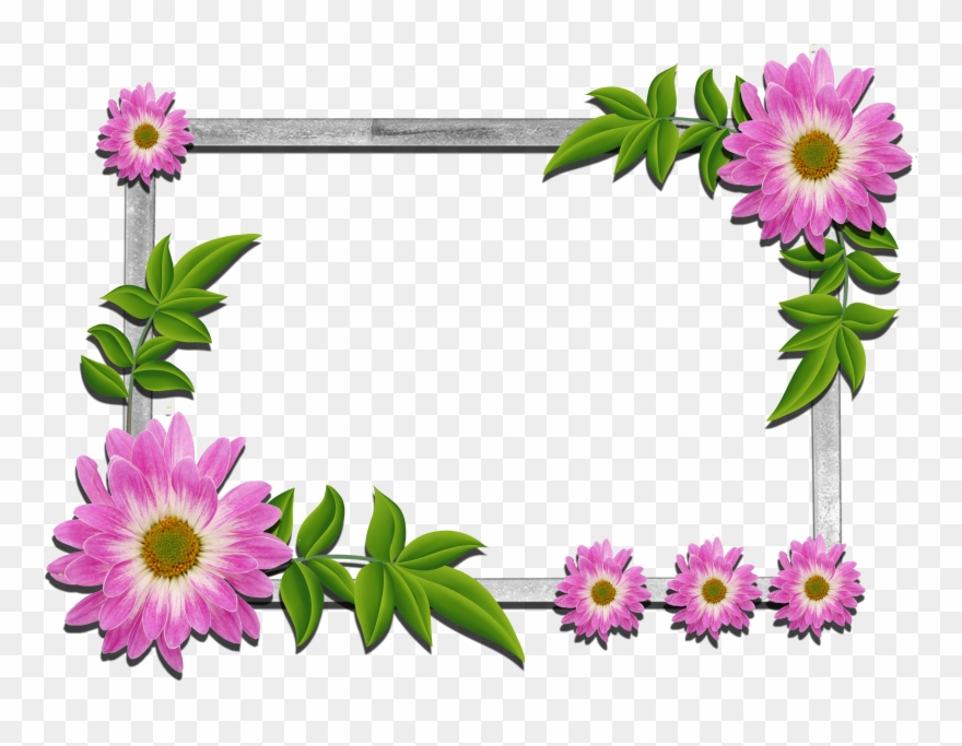 Psd Flower Frames Free Download Clipart (#96535).