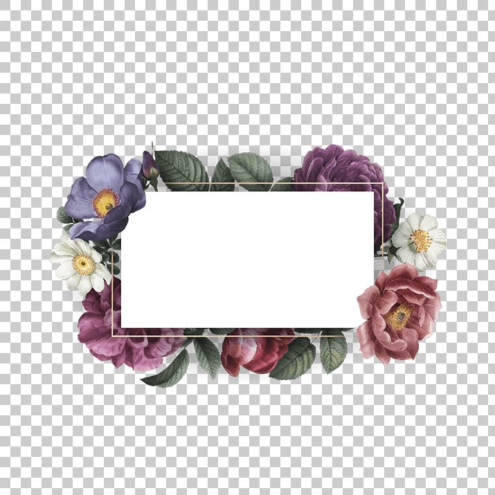 Watercolor Flower Frame Clipart PNG Image Free Download searchpng.com.