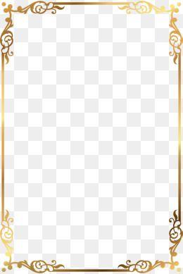 Golden Text, Golden, Frame, Decorate PNG Transparent Clipart Image.