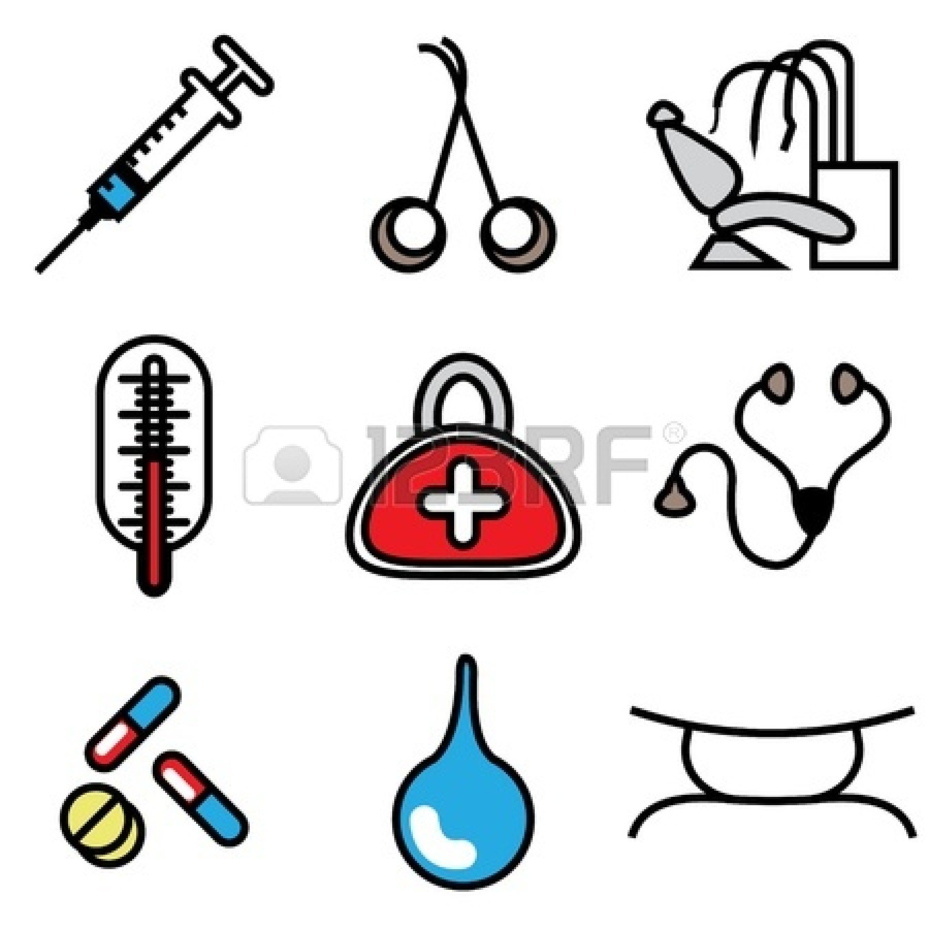 Doctor Tools Clipart.