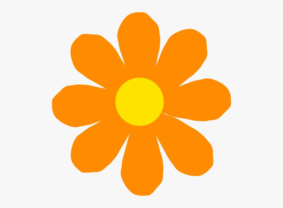 Orange Flower Clipart Spring Flower.