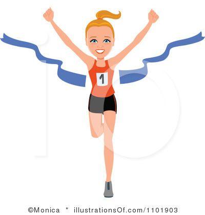 Girls Running Track Clipart.