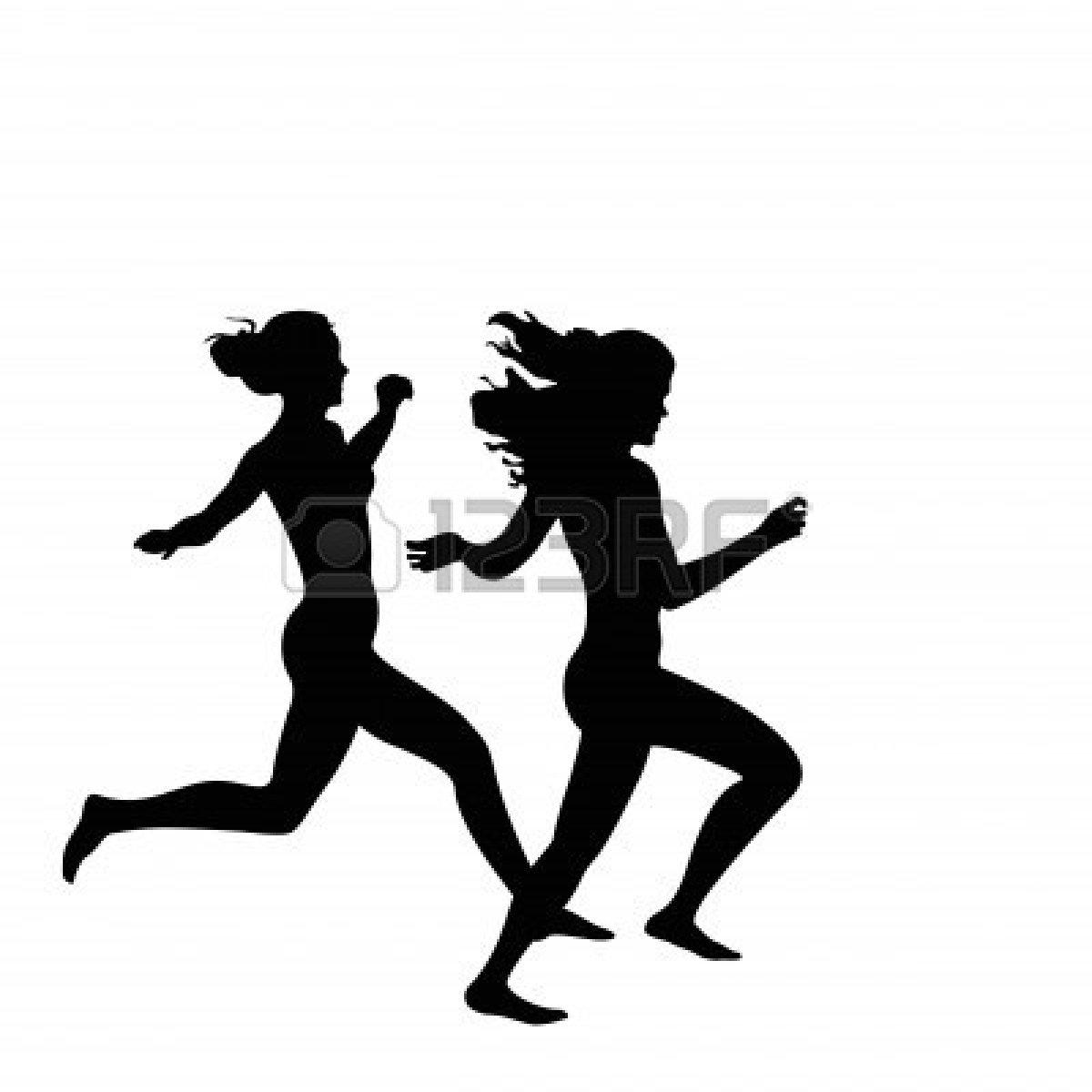 Girl Running Silhouette.