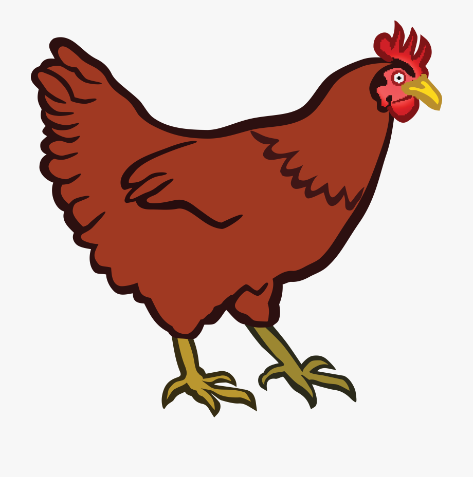 Clipart Hen Coloured.