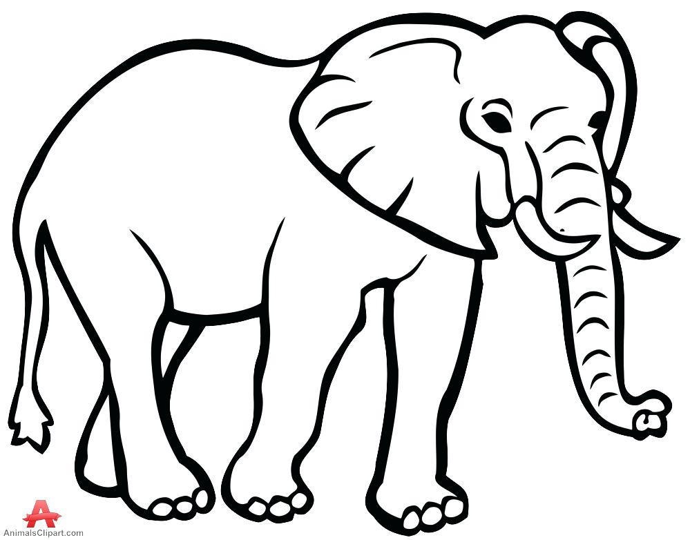 Clipart elephant outline 1 » Clipart Station.