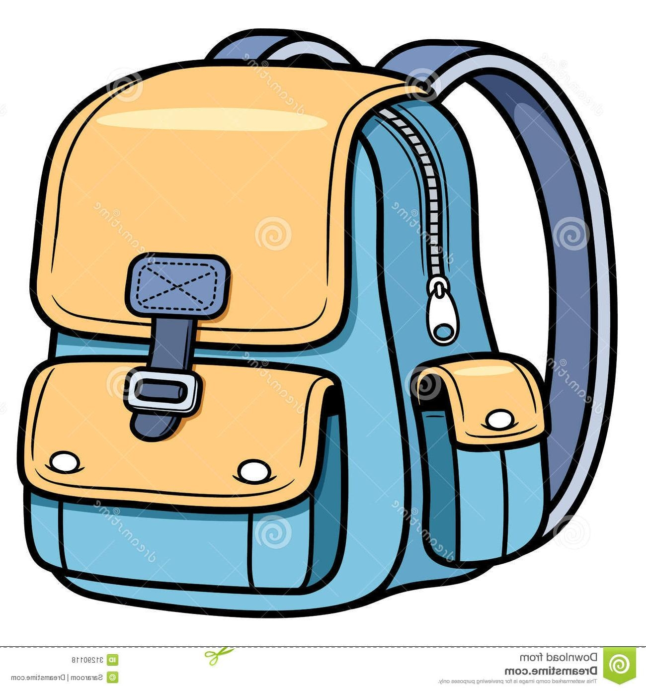 Bag clipart Awesome Unique School Bag Vector Illustration.