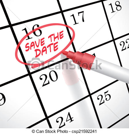 Free Save The Date Calendar Clipart.