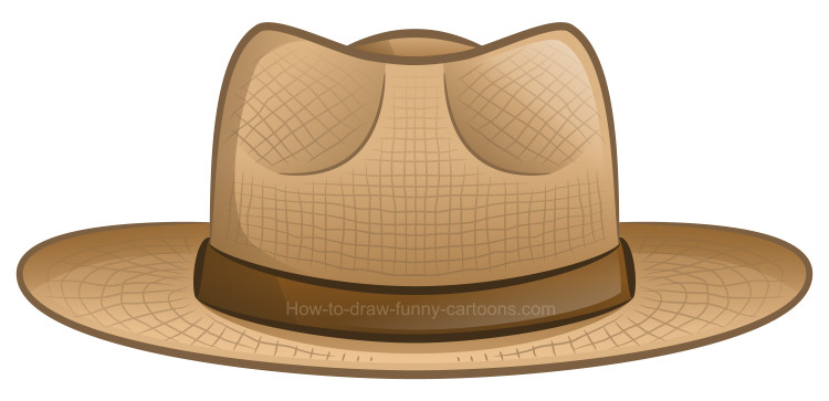 How to draw a clipart hat.