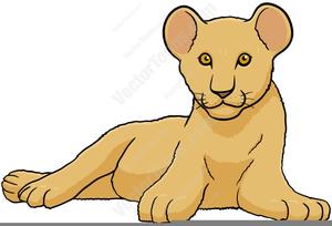 Free Clipart Lion Cub.