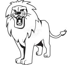 lion clip arts.