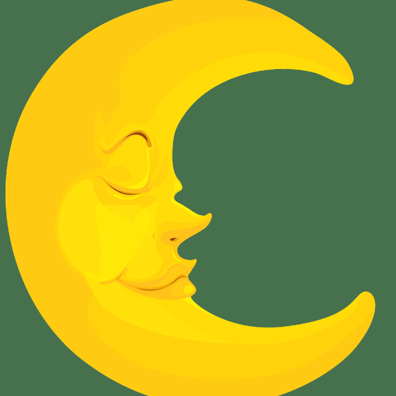 Moon Crescent Clipart transparent PNG.