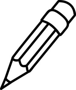 Pencil Black And White Clipart.