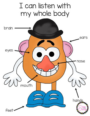 Sing a New Song: Whole Body Listening with Mr. Potato Head.