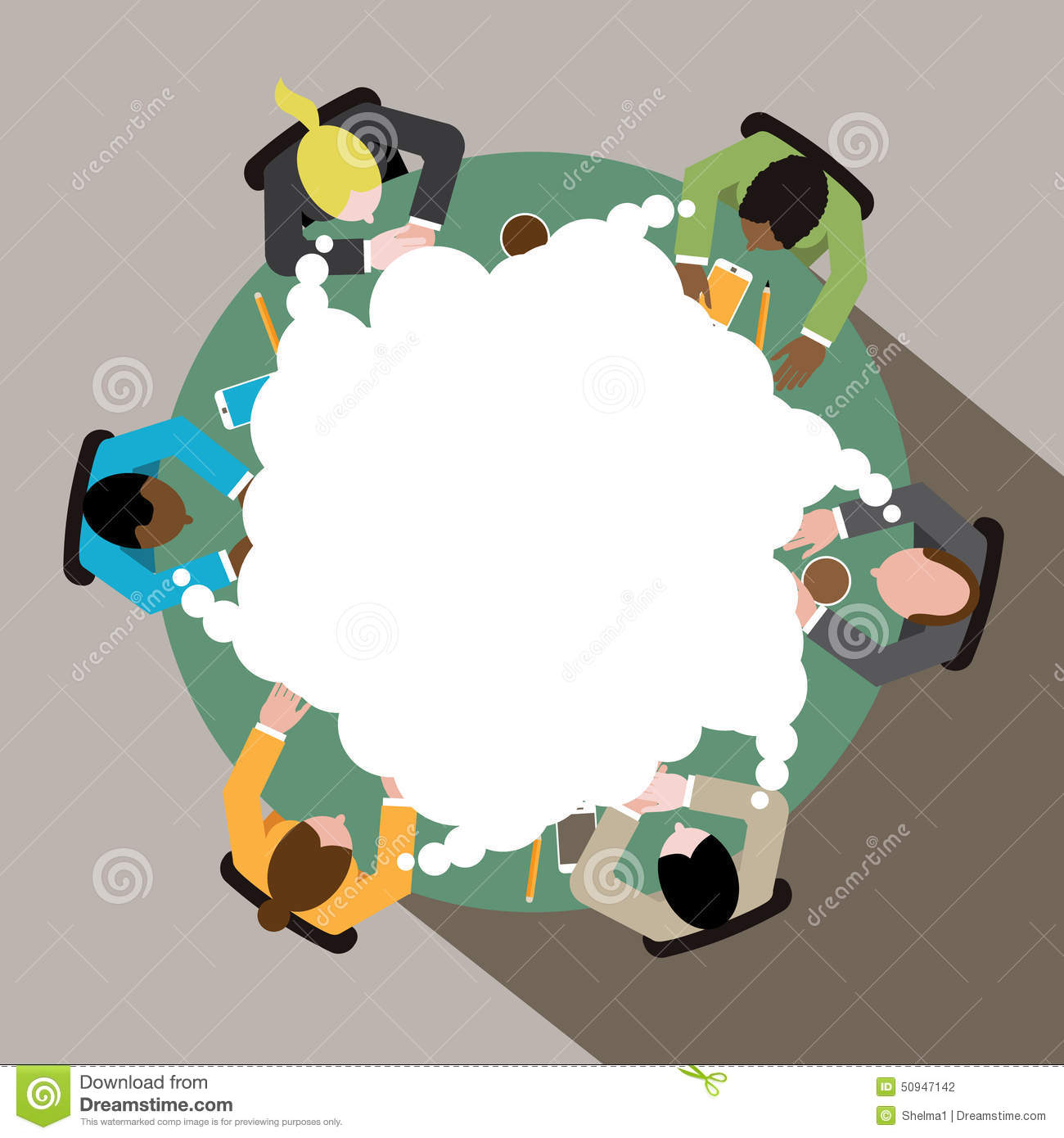 Clipart Picture Of Women Together Conference Table.