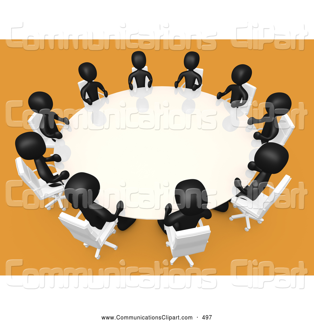 Free Clipart Women Around Table.