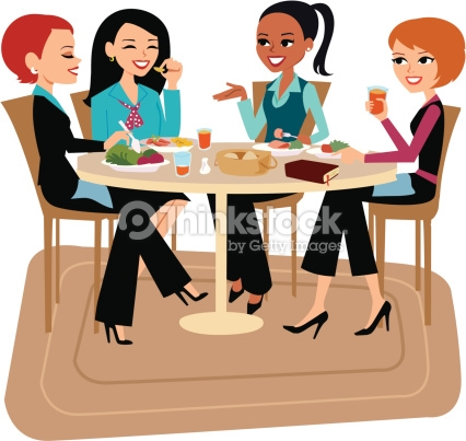 Woman Meeting Clipart.
