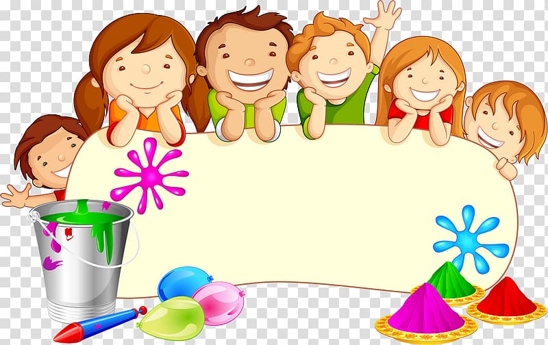 Holi Festival graphics Illustration, kindergarten decorative.