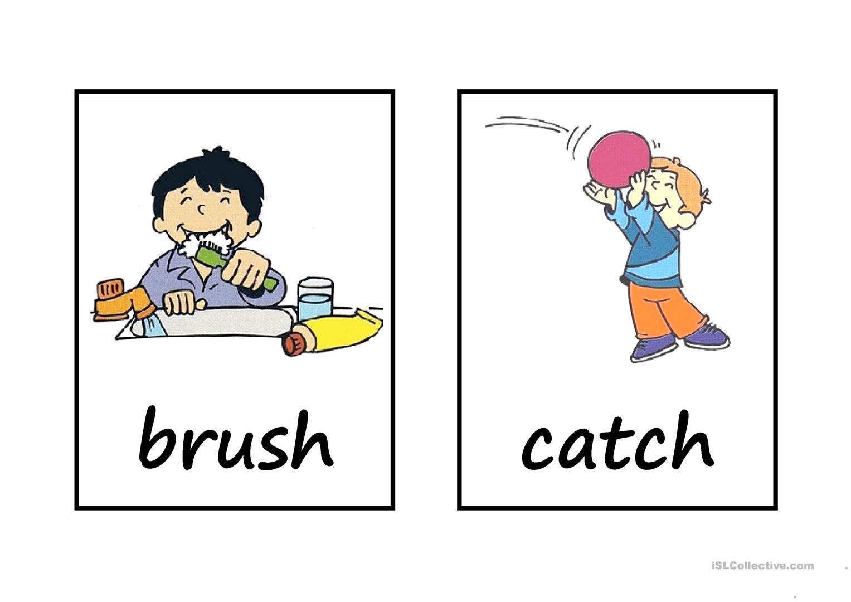 action words bingo.