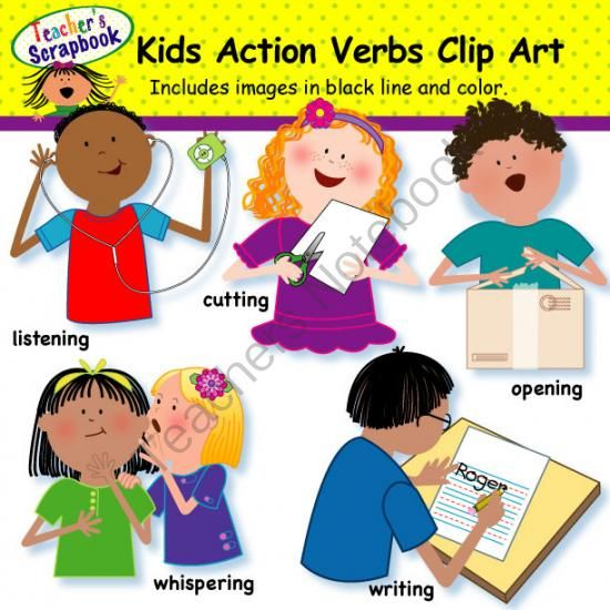 Action words clipart 5 » Clipart Station.