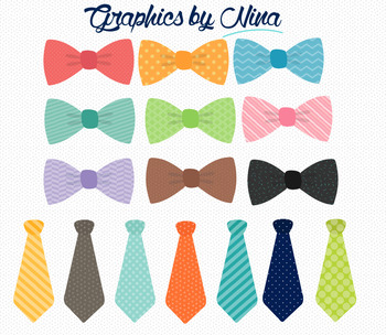 Bowties and Ties Clipart.