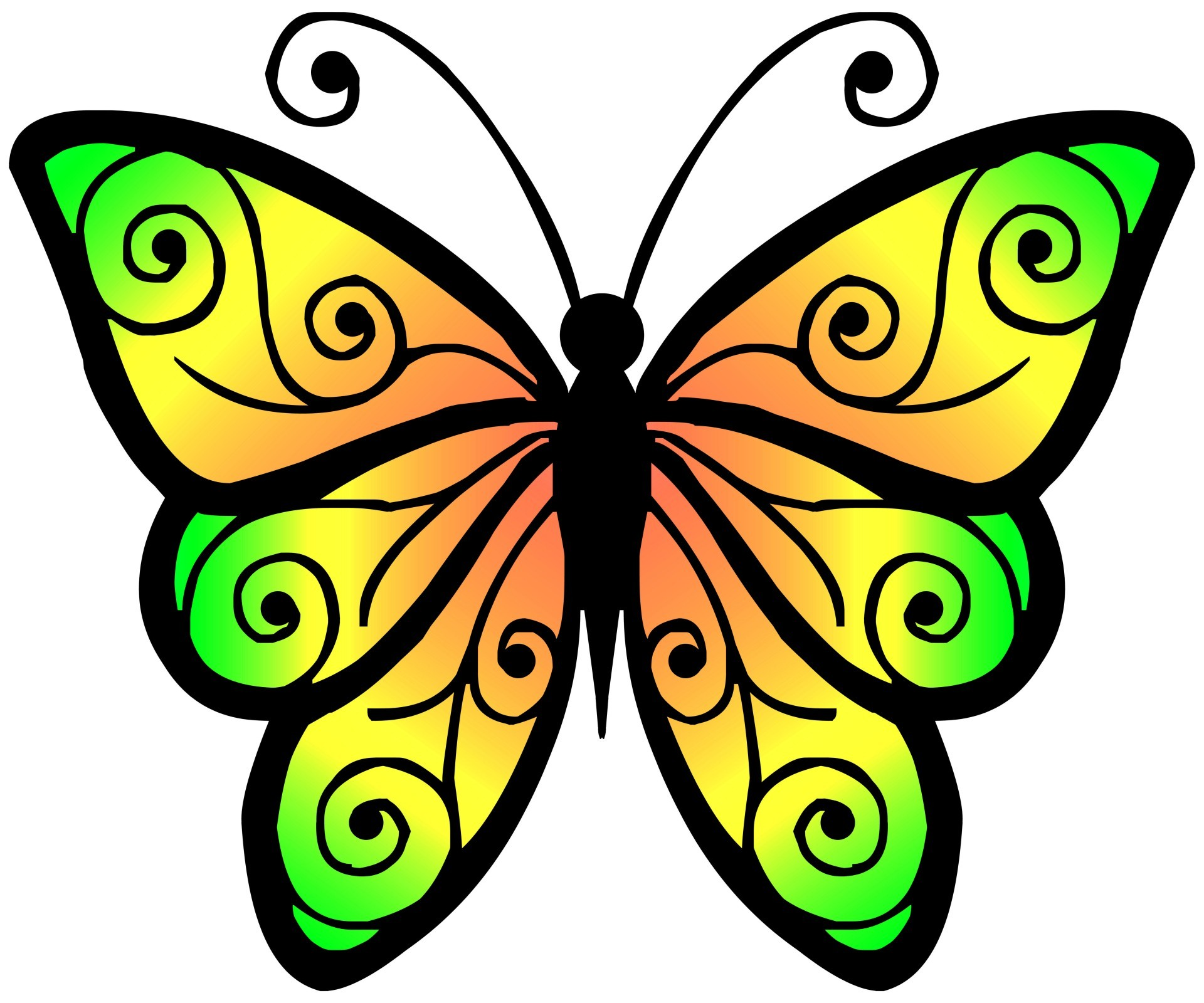 Clipart of butterflies 4 » Clipart Station.