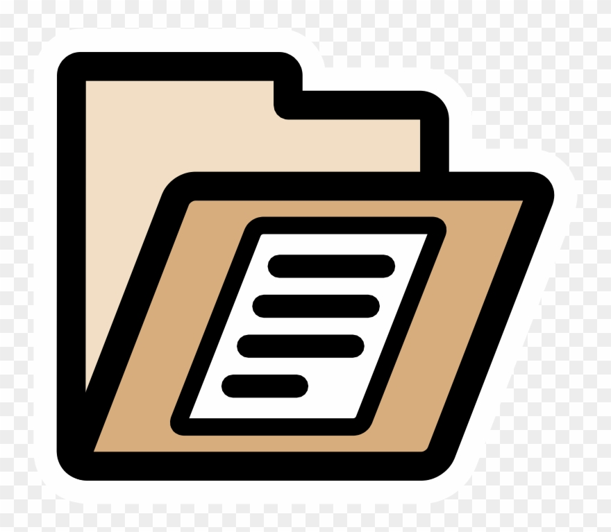 Clip Art Cliparts Co Primary Folder Documents.