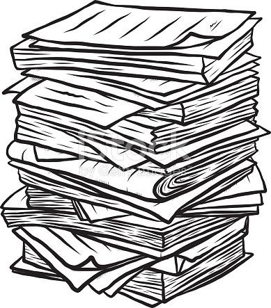 Pile De Documents Clipart 5.