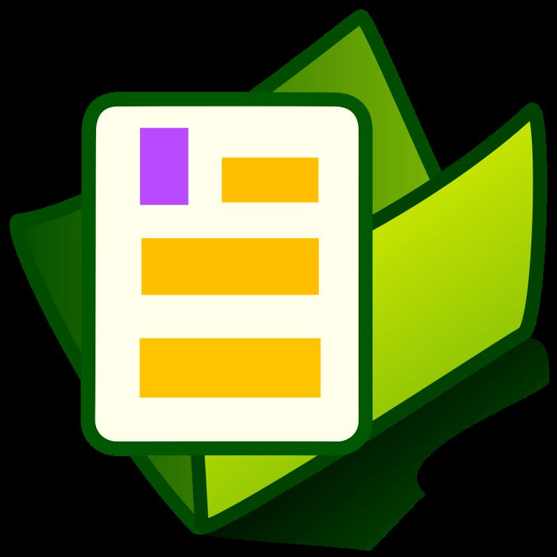 Free Clipart: Folder documents.